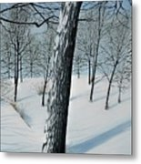 Winter Maple Metal Print
