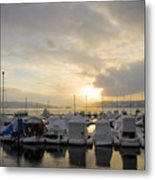 Winter Marina Metal Print