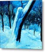 Winter Moonlight And Snow Metal Print