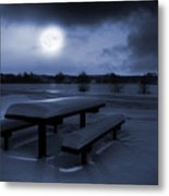 Winter Moonlight Metal Print by Jaroslaw Grudzinski