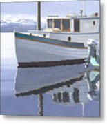 Winter Moorage Metal Print