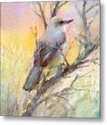 Winter Morning - Mockingbird Metal Print