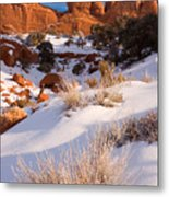 Winter Morning At Arches National Park Metal Print