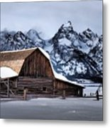 Winter Morning At John Moulton Barn Metal Print
