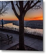 Winter Morning Breath Metal Print