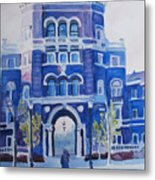 Winter Morning On Campus Metal Print