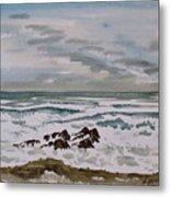 Winter Morning Seascape Metal Print