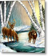 Winter Morning Walk Metal Print