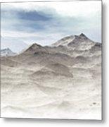 Winter Mountain Peaks Metal Print