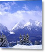 Winter Mountains Metal Print by Elena Elisseeva