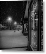Winter Night On Main Metal Print