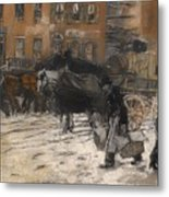 Winter On 21st Street - New York Metal Print