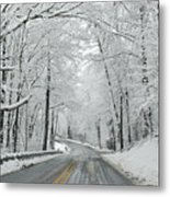Winter On Buffalo Road Metal Print
