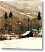 Winter On Four Mile Road Metal Print