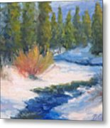 Winter On Gore Creek Metal Print