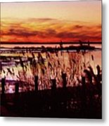 Winter On The Bay Metal Print