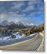 Morant's Curve On The Bow Valley Parkway Metal Print