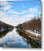 Winter On The Cedar Metal Print