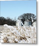 Winter On The Prairie Number 2 Metal Print