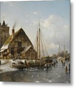 Winter On The Rhine Metal Print