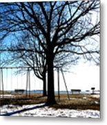 Winter On The Sound Metal Print
