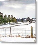 Winter Ontario Farm 3 Metal Print