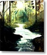 Winter Over Almond Creek Metal Print