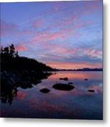 Winter Pastel Sundown Serenity Metal Print