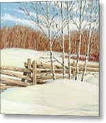 Winter Poplars 2 Metal Print