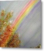 Winter Rainbow  Metal Print