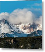 Winter Receding On Pikes Peak Metal Print