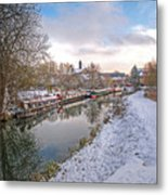 Winter Reflections On The River Metal Print