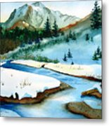 Winter Retreating Metal Print