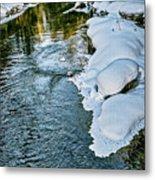 Winter River Reflections - Yellowstone Metal Print