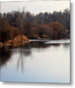 Winter Riverbank Metal Print
