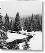 Winter Riverscape Metal Print