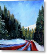 Winter Road Trip Metal Print