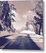 Winter Roads Metal Print