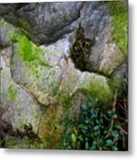 Winter Rock Patterns Metal Print