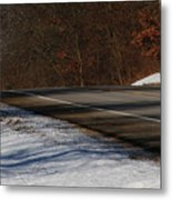 Winter Run Metal Print