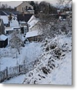 Winter Scene In North Wales Metal Print
