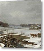 Winter Scene In Pennsylvania Metal Print