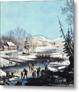 Winter Scene: Morning 1854 Metal Print