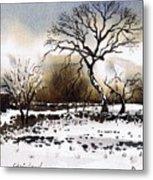 Winter Scene Stainland Metal Print