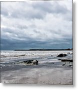 Winter Seascape 2 - Lyme Regis Metal Print