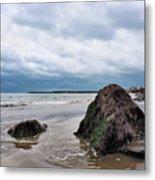Winter Seascape - Lyme Regis Metal Print