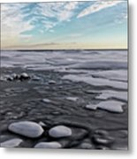 Winter Shoreline Metal Print