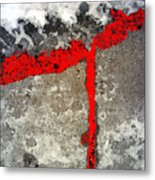 Winter Sidewalk 4 Metal Print