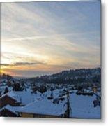 Winter Snow In Happy Valley Oregon Metal Print