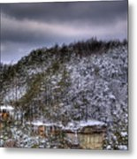 Winter Snow Storm Metal Print